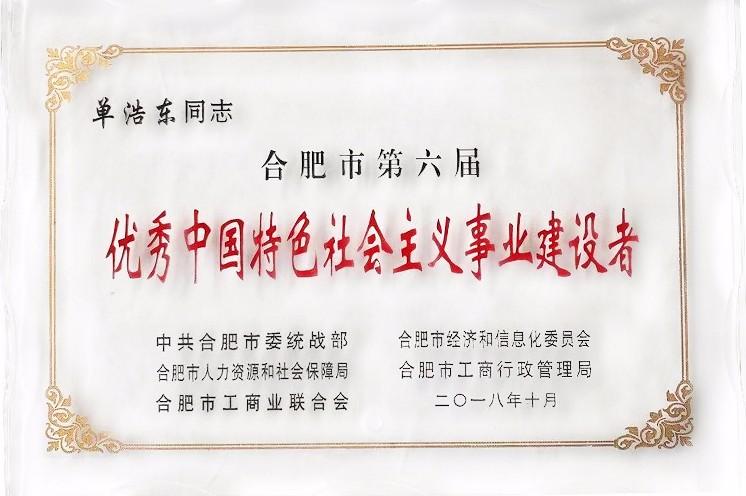 优秀中国社会主义事业建设者